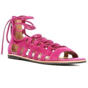 Franco Sarto Appalachia lace up flat sandals